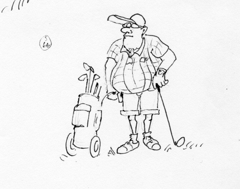 Golfer, Cartoon: Peter Ruge