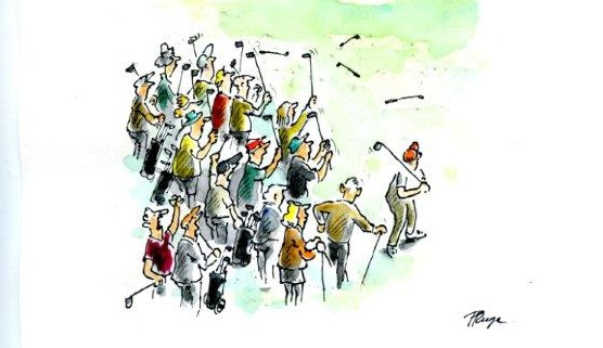 Ready Golf ...Cartoon: Peter Ruge